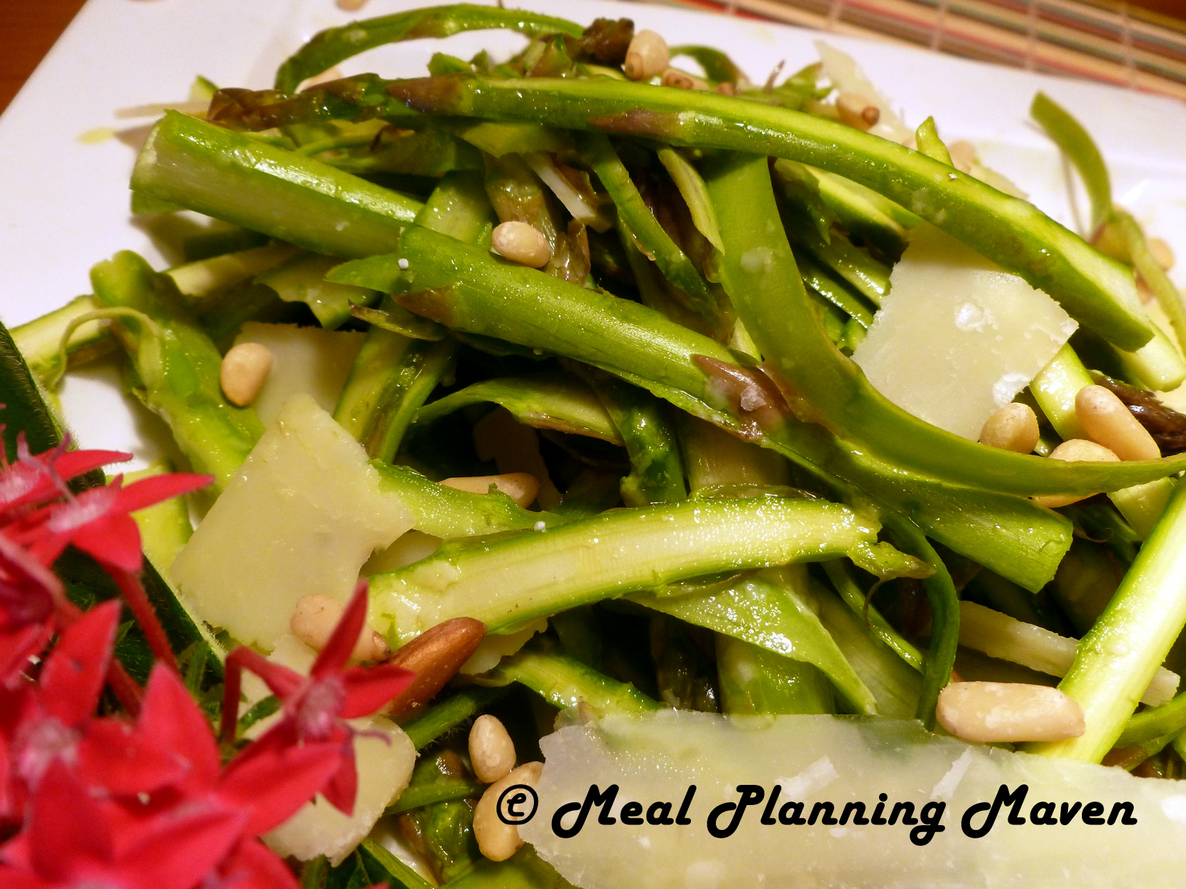 Asparagus Ribbon Salad with Lemony Vinaigrette