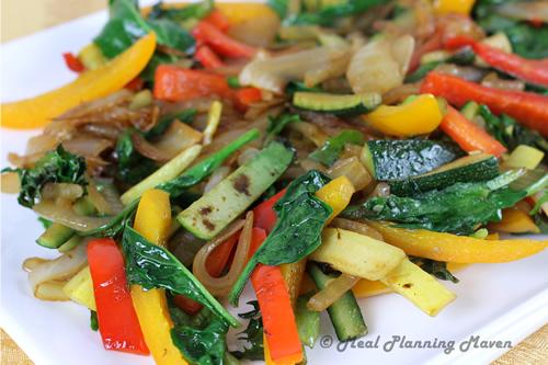 Baby Greens and Veggie Stir-Fry