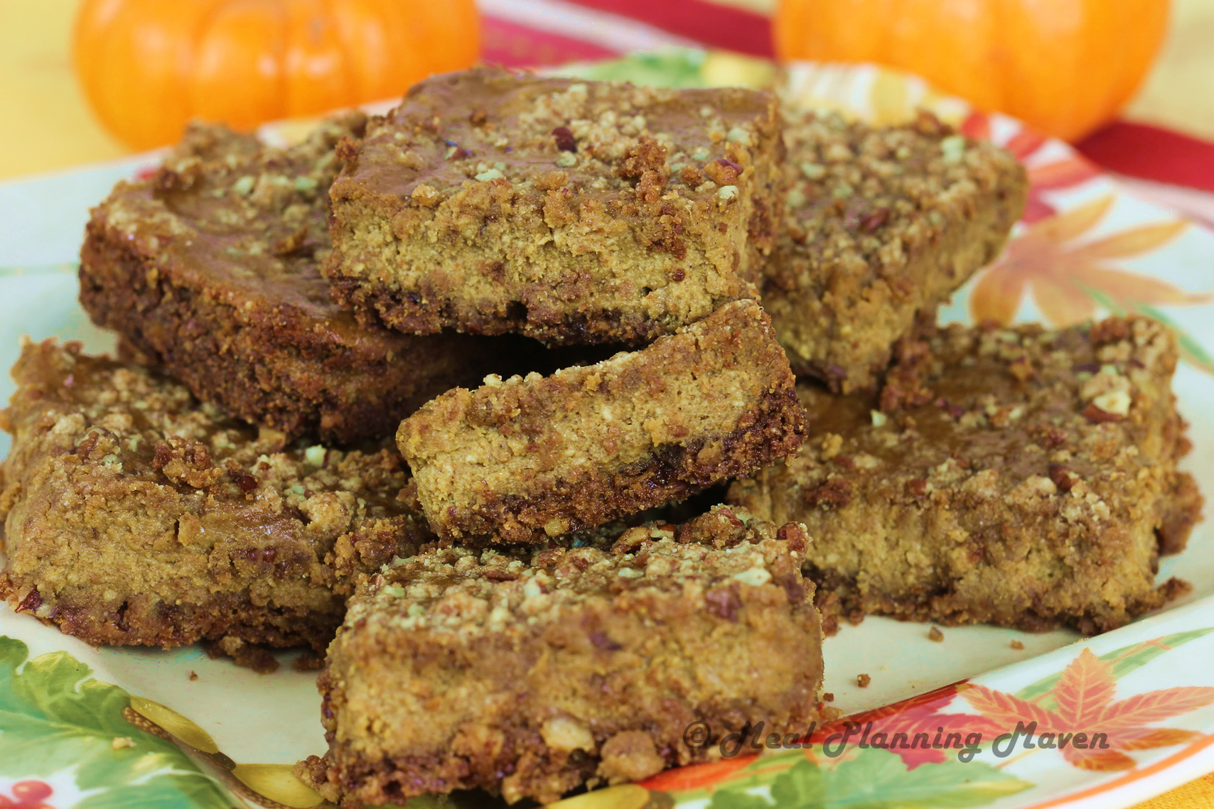 Pumpkin-Pecan Cheesecake Bars