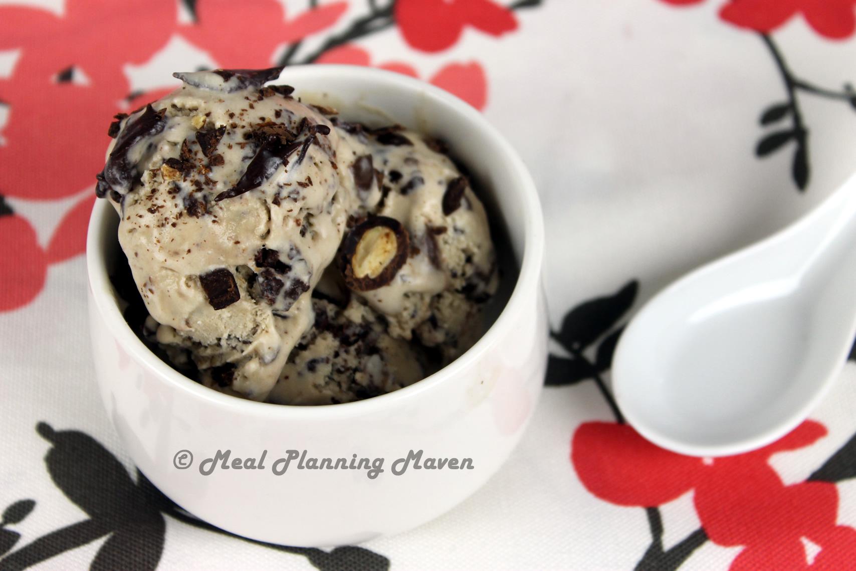 Cocoa-Almond Crunch Ice Cream