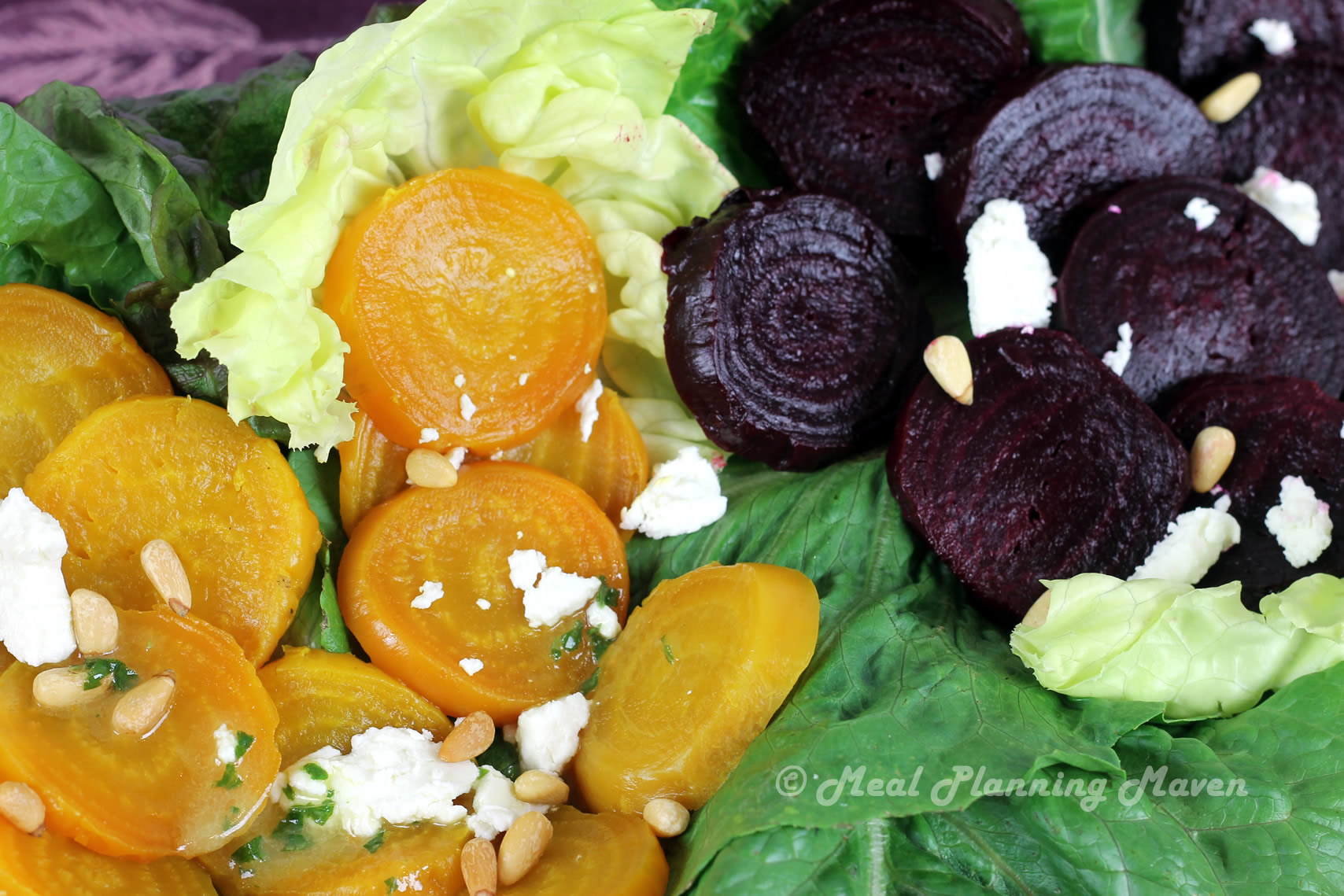 Duo of Beets Salad with Orange-Basil Vinaigrette