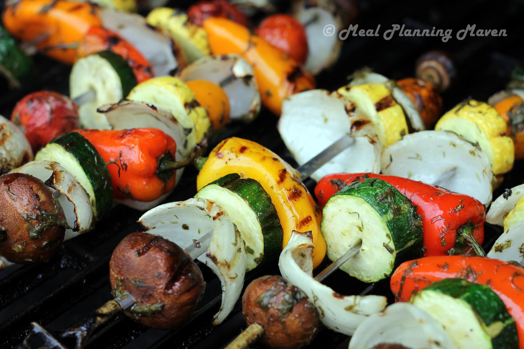 Easiest Veggie Kabobs