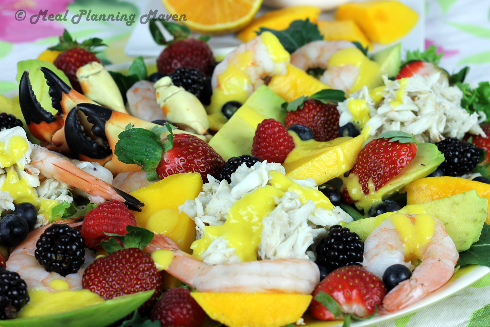 Florida Seafood Salad with Mango-Tangerine Dressing