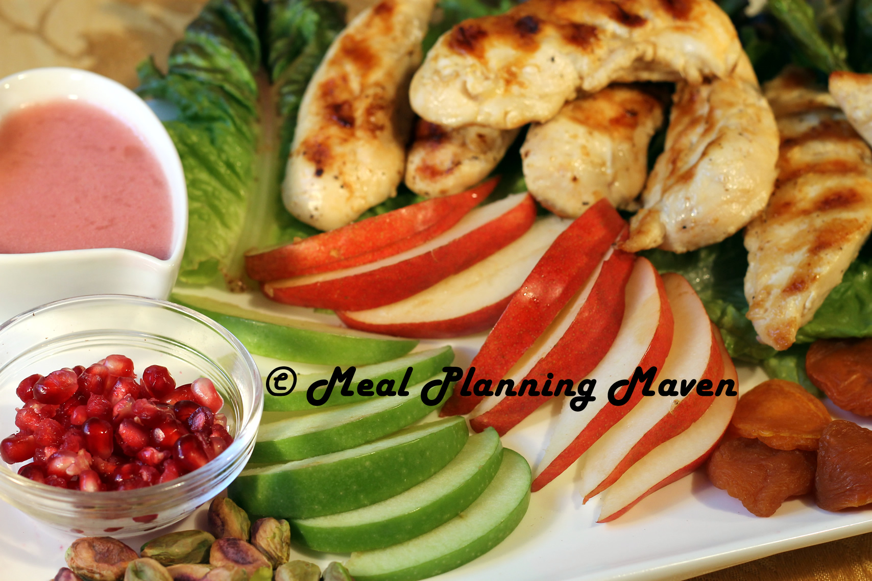 Grilled Chicken Salad with Pomegranate Vinaigrette