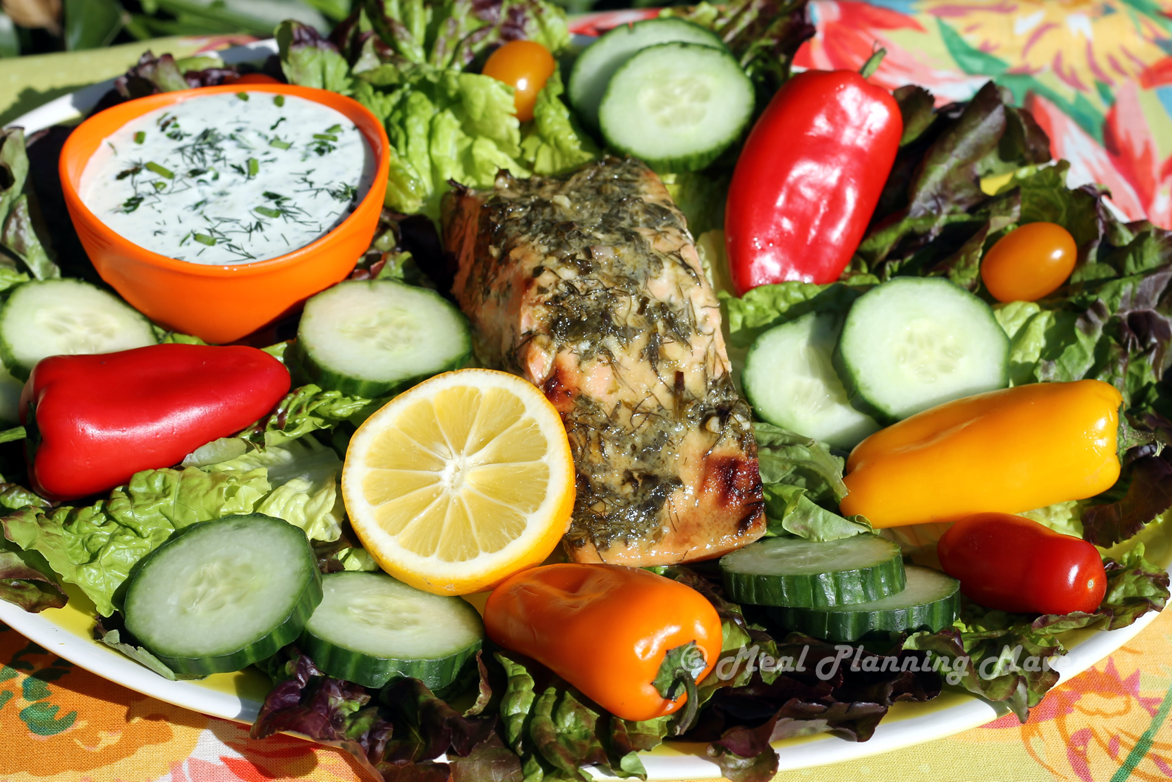 Herb-Crusted Salmon Salad