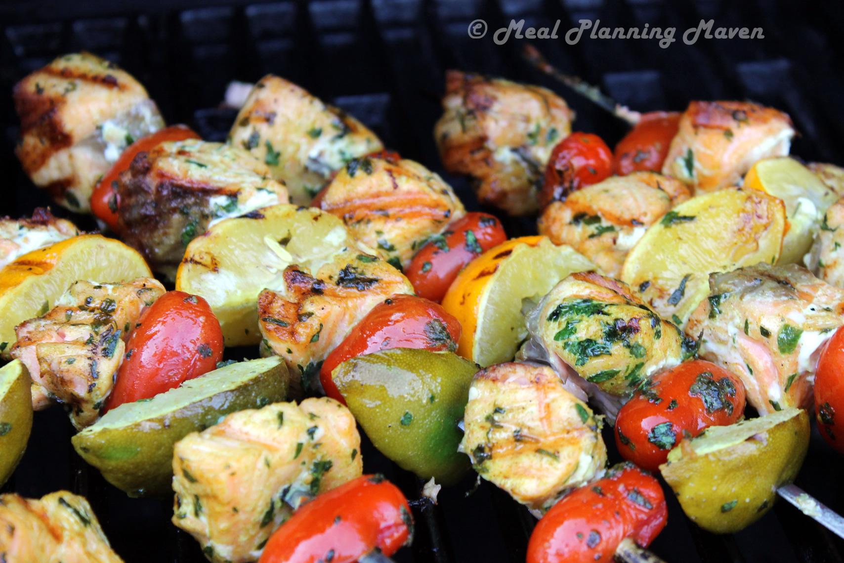 Herbed Salmon 'n Tomato Kabobs
