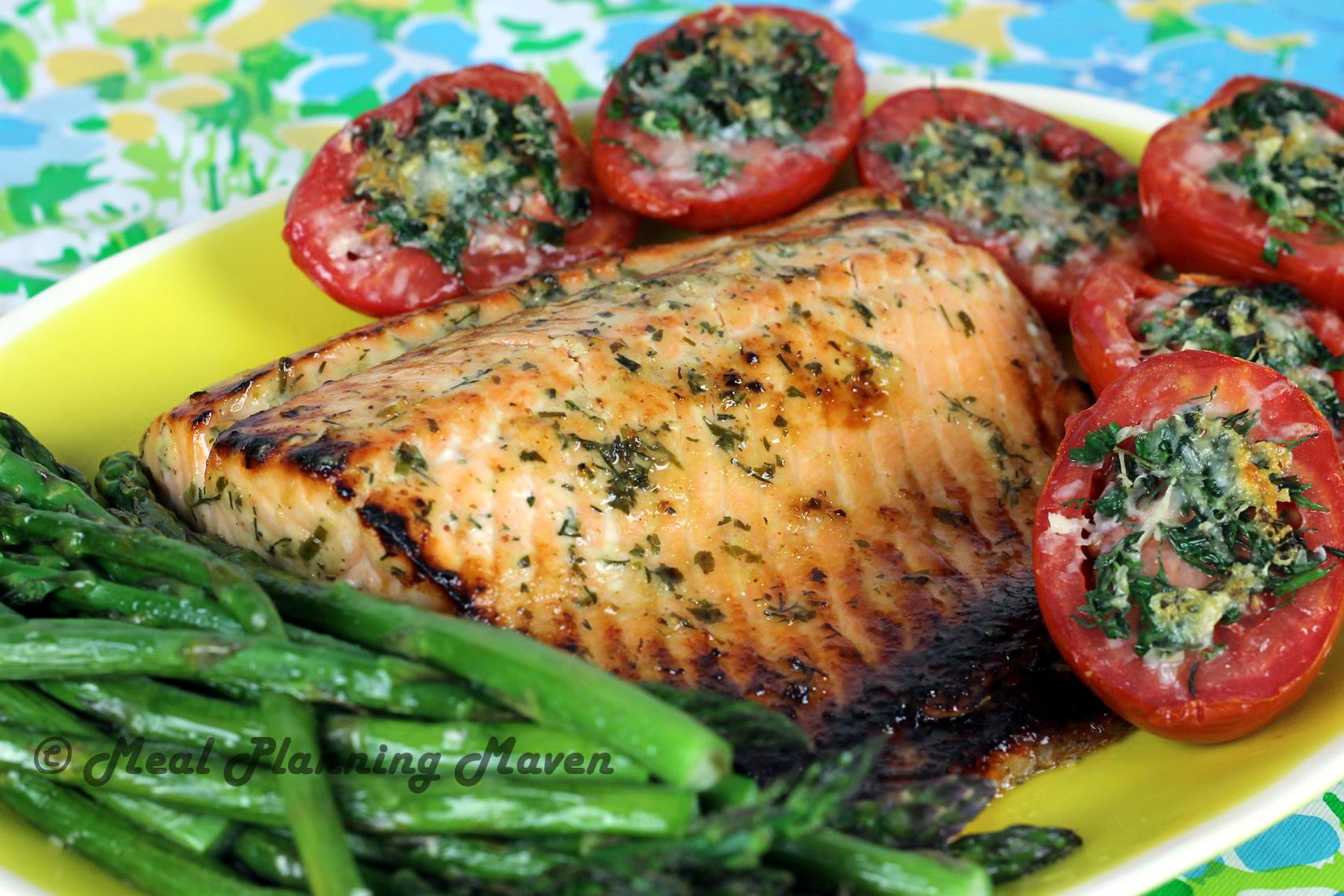 Roasted Honey-Dijon Salmon with Fresh Herbs