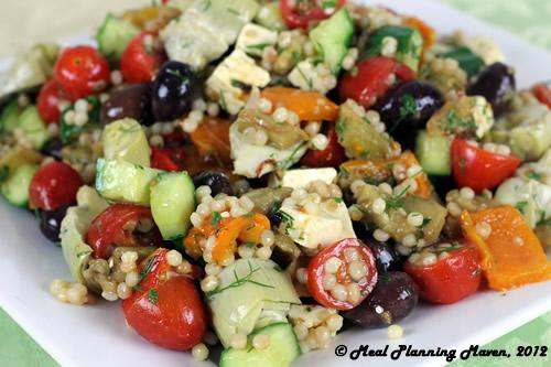 Roasted Mediterranean Eggplant Salad