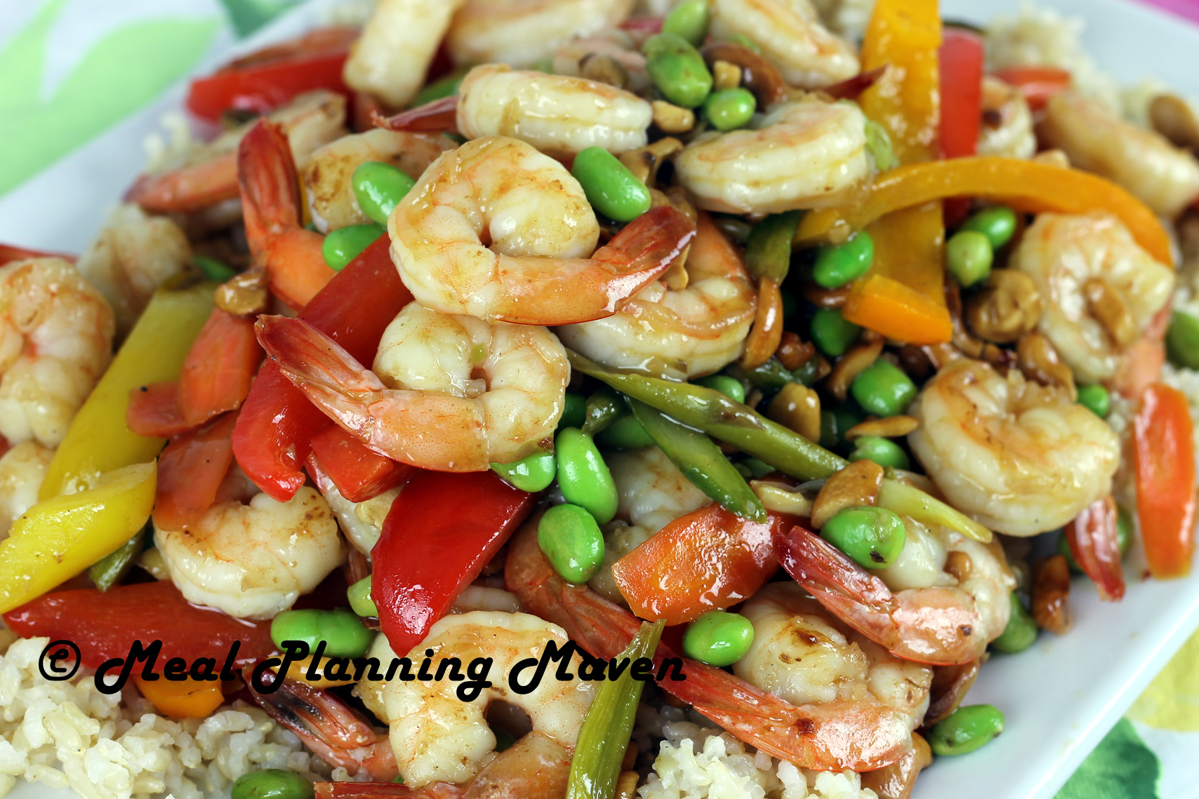 Asian Shrimp, Veggie 'n Cashew Stir-Fry