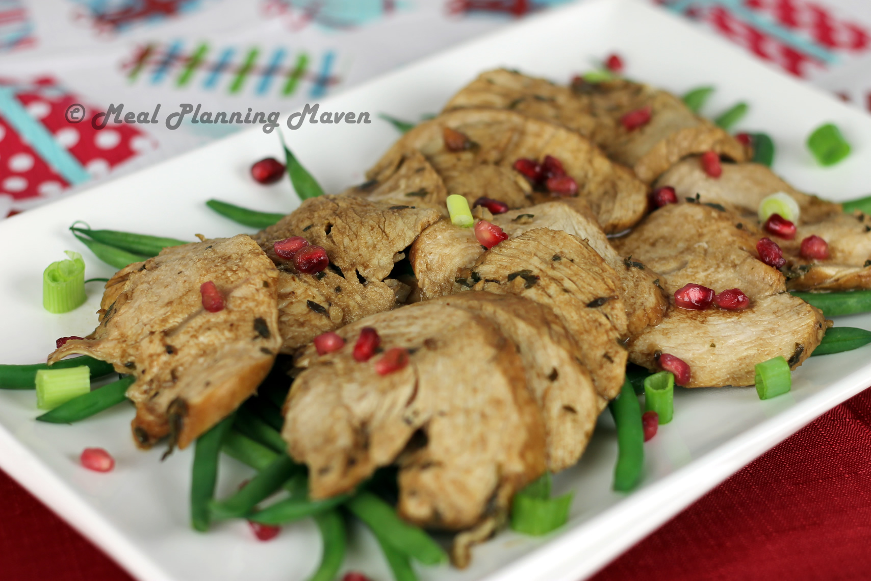 Cherry-Pomegranate Glazed Turkey Tenderloins