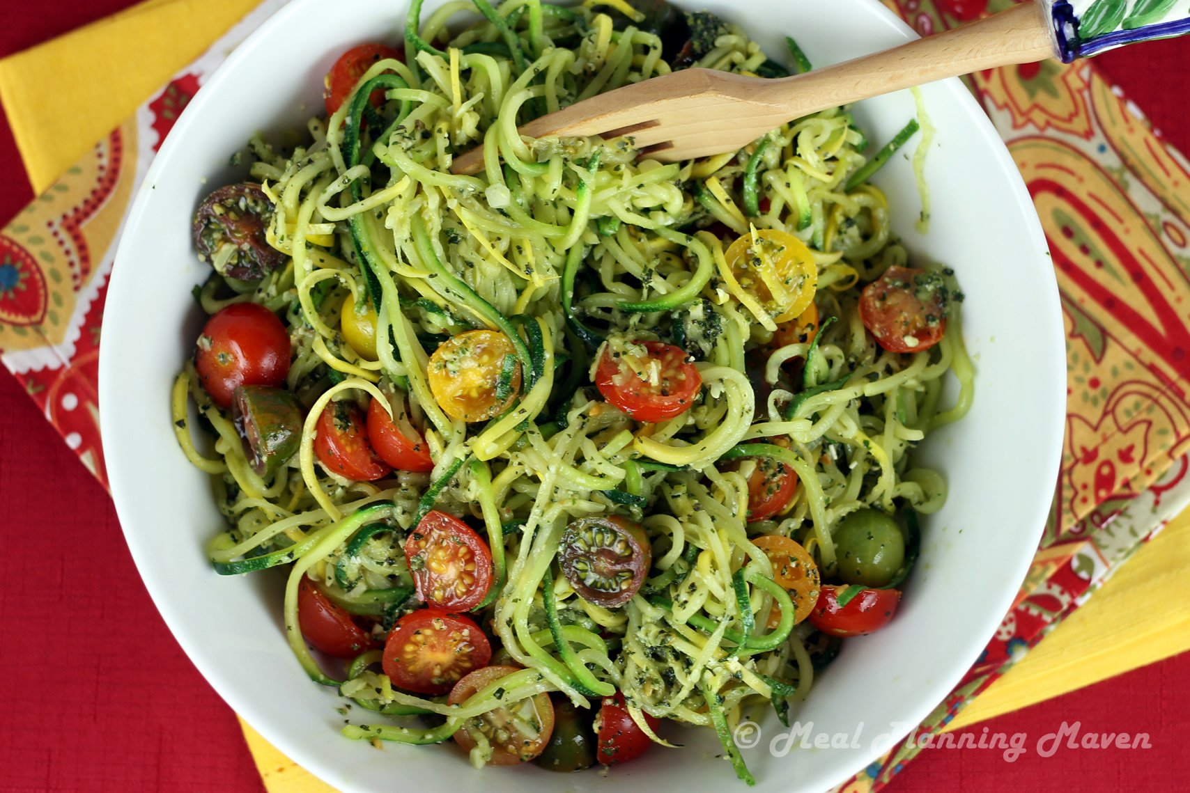 """Pesto """"Voodles"""" (Veggie Noodles)"""