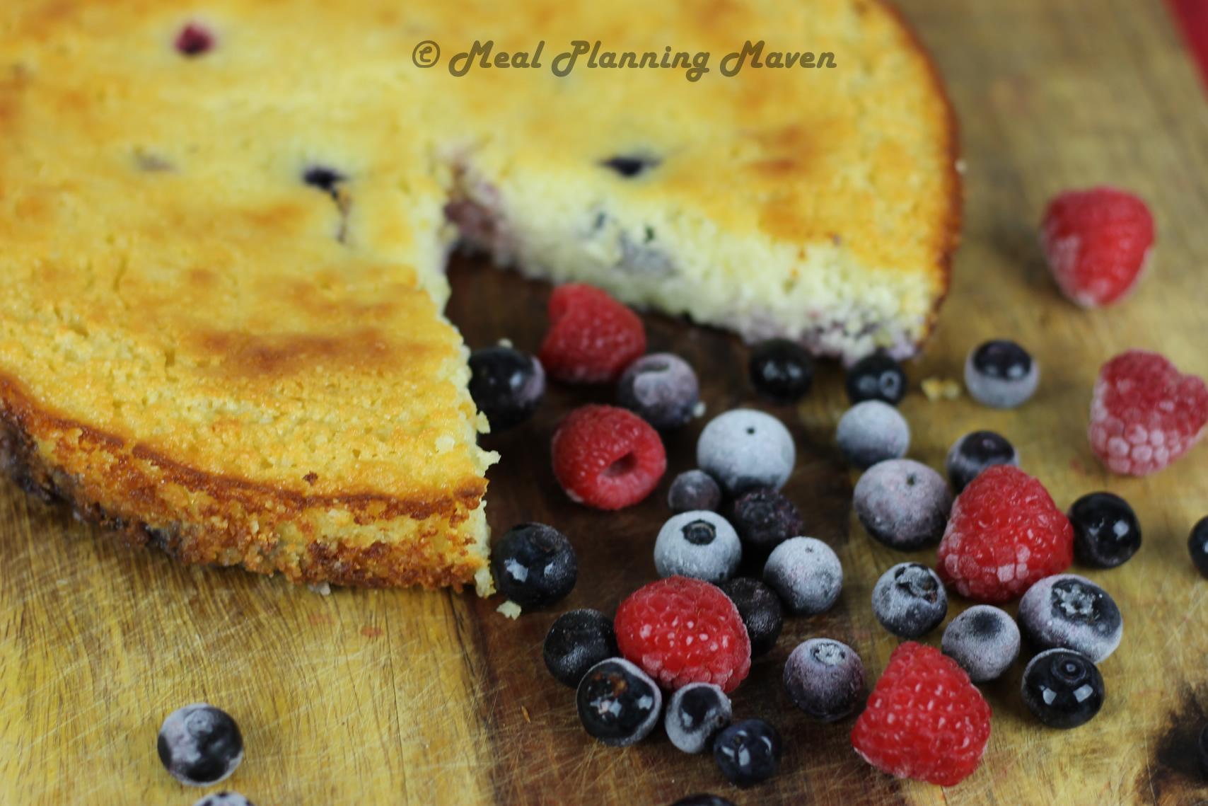 Ricotta Almond-Berry Torte
