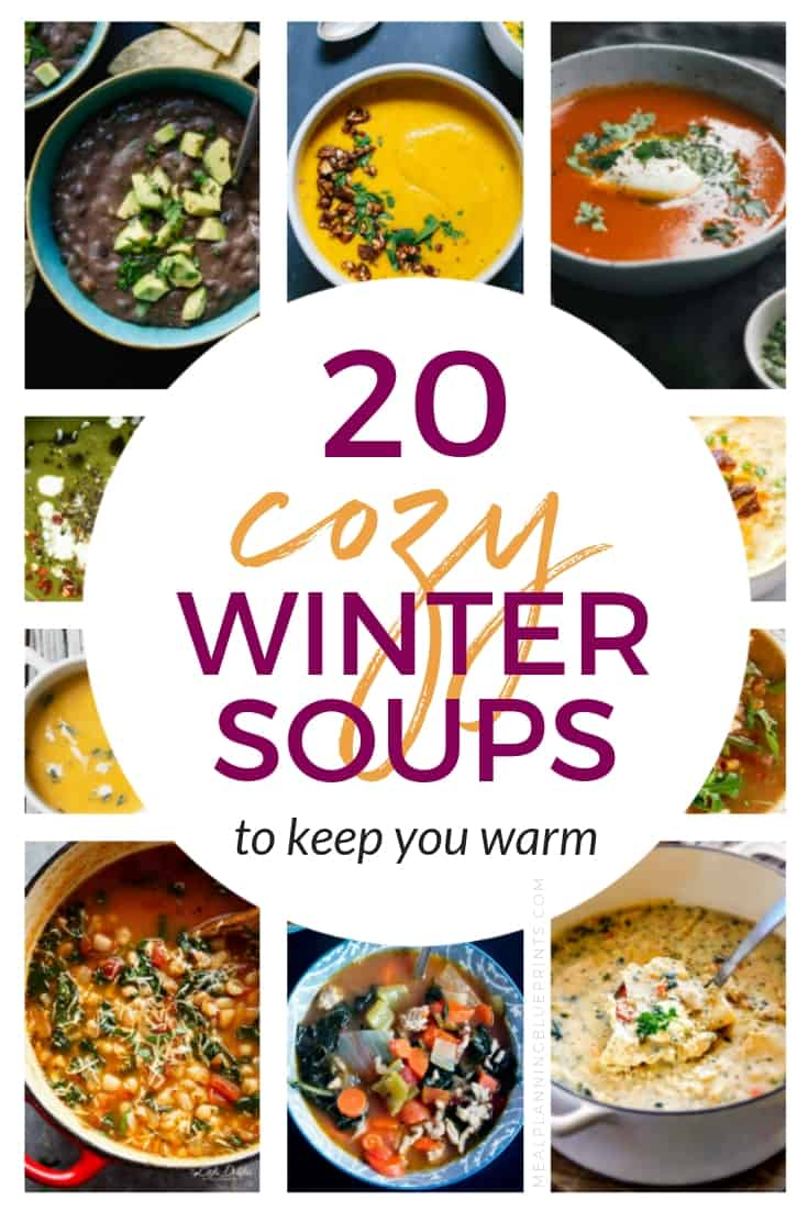 20 Cozy and Healthy Winter Soups to keep you warm! There is nothing better than a warm bowl of soup in the winter, right? These healthy soup recipes are easy to make and will help you stick to your healthy eating goals. Add these easy winter soup recipes to your meal planning routine today. #souprecipeseasy #mealplanning #soupsunday #healthyeating