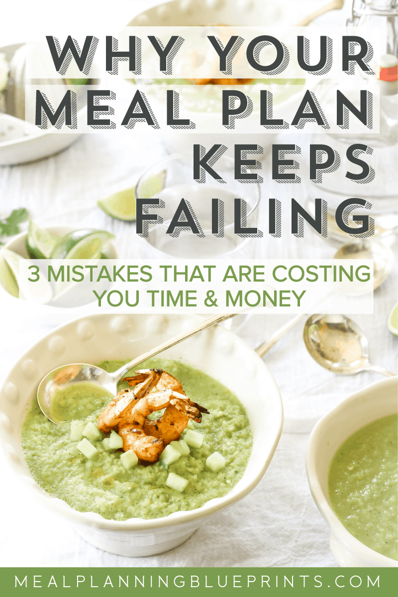 Are you making crucial meal planning mistakes? They could be costing you time and money! Plus get a free kid-friendly menu! Pantry organization | grocery budget | healthy meal planning | meal planning template | minimalism | free printable | capsule pantry