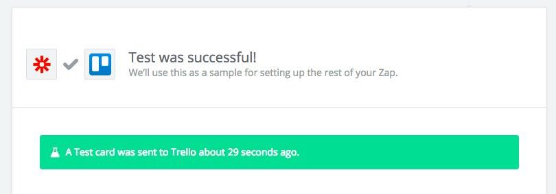 screenshot of Zapier Pinterest to Trello meal planning tutorial
