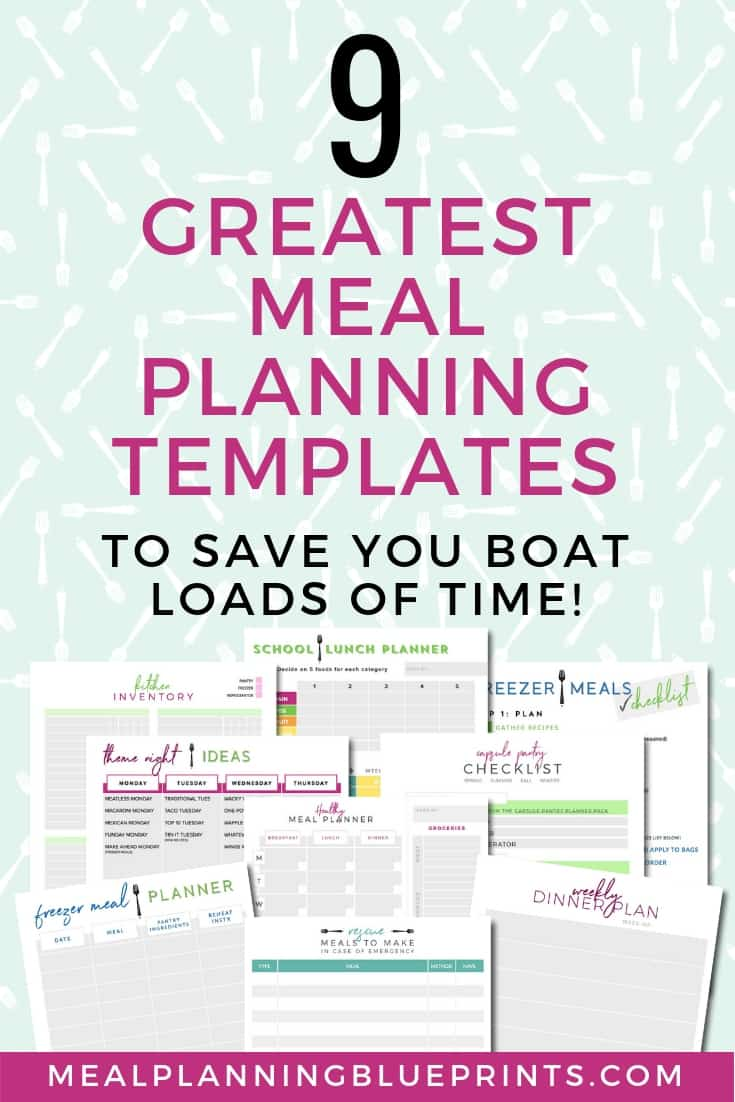 the 9 greatest free meal planning templates to save you boat loads