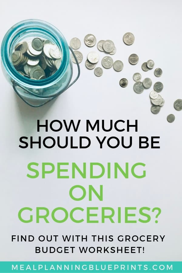 How much should you be spending on groceries? I've got this Grocery Budget worksheet that will help you figure out exactly how much your food budget should be. It will help you save money on groceries without coupons (I use no more than 10 coupons, and I walk you through how I do that too!).