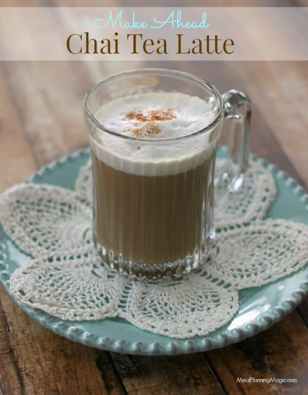 Chai Tea Latte with Easy Frothed Milk