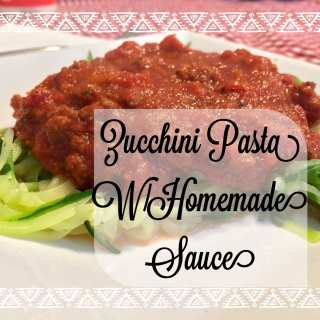 Steph's Homemade Spaghetti Sauce over Zucchini Noodles