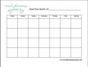 Pic MPM Monthly Meal Planner