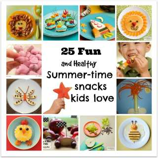 25 Easy and Healthy Snacks for Kids this summer.