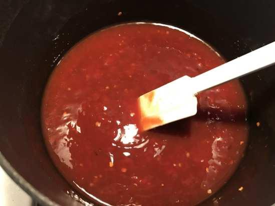 Making homemade BBQ sauce