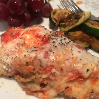 Easy Chicken Parmesan with Basil- Weight Watcher friendly-6 FreeStyle Smart Points