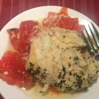 Slow Cooker Basil-Stuffed Chicken with Fresh Tomato Sauce
