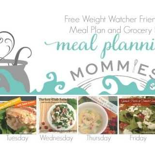 Free Weight Watcher Friendly Meal Plan and Grocery List #12 with WW Points+