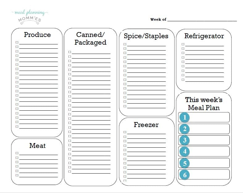 Snip Of New Grocery List Template  Printable Grocery Lists Template