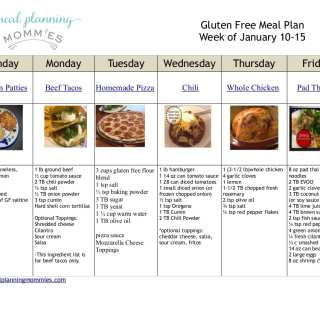 Free Gluten Free Meal Plan & Grocery List