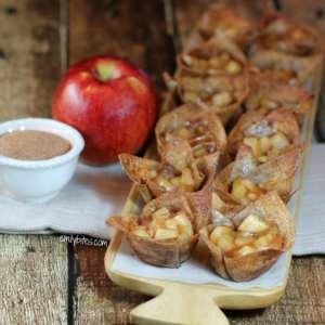 mini cinnamon apple tarts