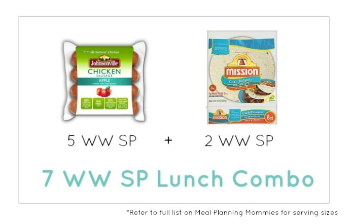 Weight Watcher Lunch Combo 22 - Meal Planning Mommies