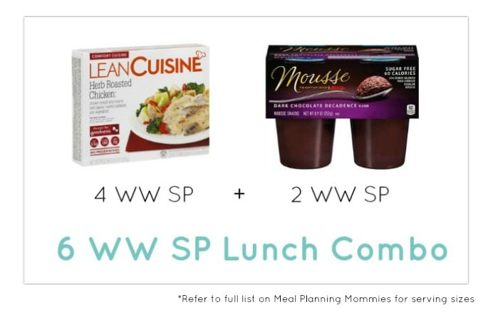 Weight Watcher Lunch Combo 25 - Meal Planning Mommies