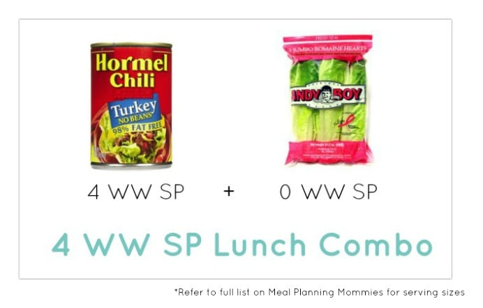 Weight Watcher Lunch Combo 27 - Meal Planning Mommies