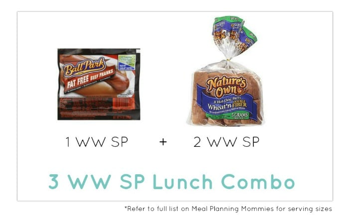 Weight Watcher Lunch Combo 4 - Meal Planning Mommies