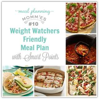 Weight Watcher Meal Plan #10 with old Smart Points