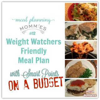 Frugal Weight Watcher meal plan with Smart Points