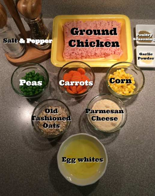 Ingredients for Chicken Pot Pie Muffins