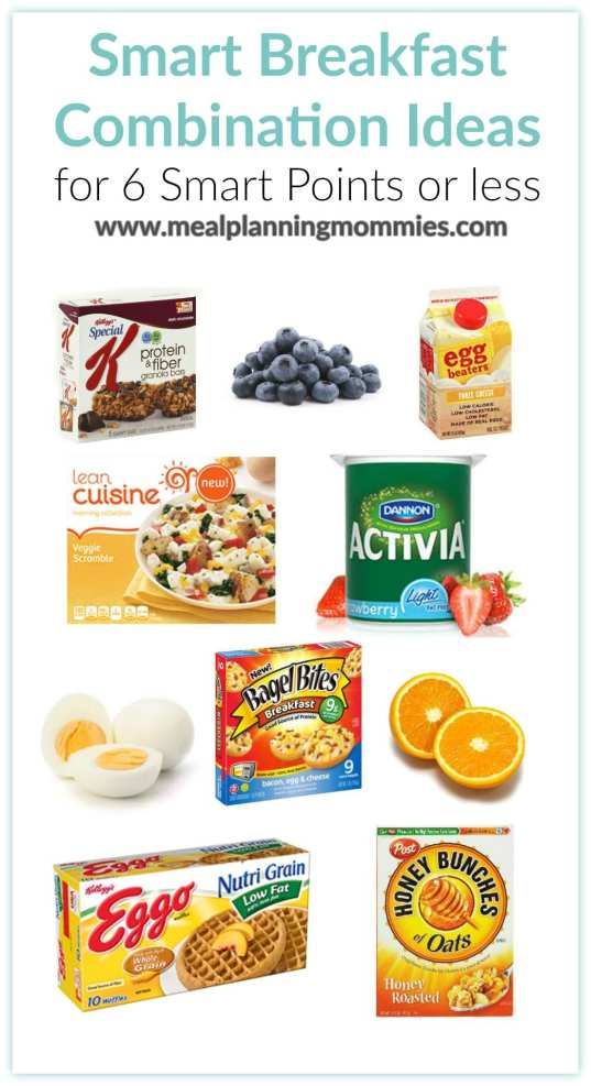 Smart Breakfast Combination Ideas for 6 Smart Points of less-Meal Planning Mommies