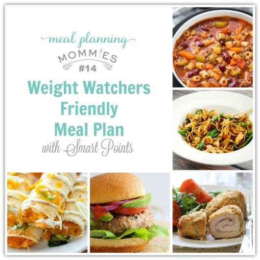 Weight Watcher Friendly Meal Plan #14 with Smart Points