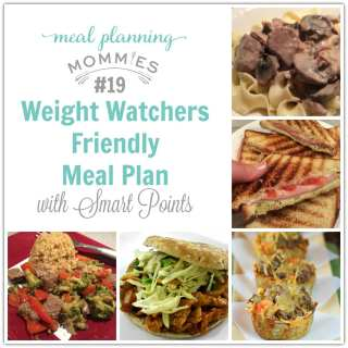 Weight Watcher Friendly Meal Plan #19