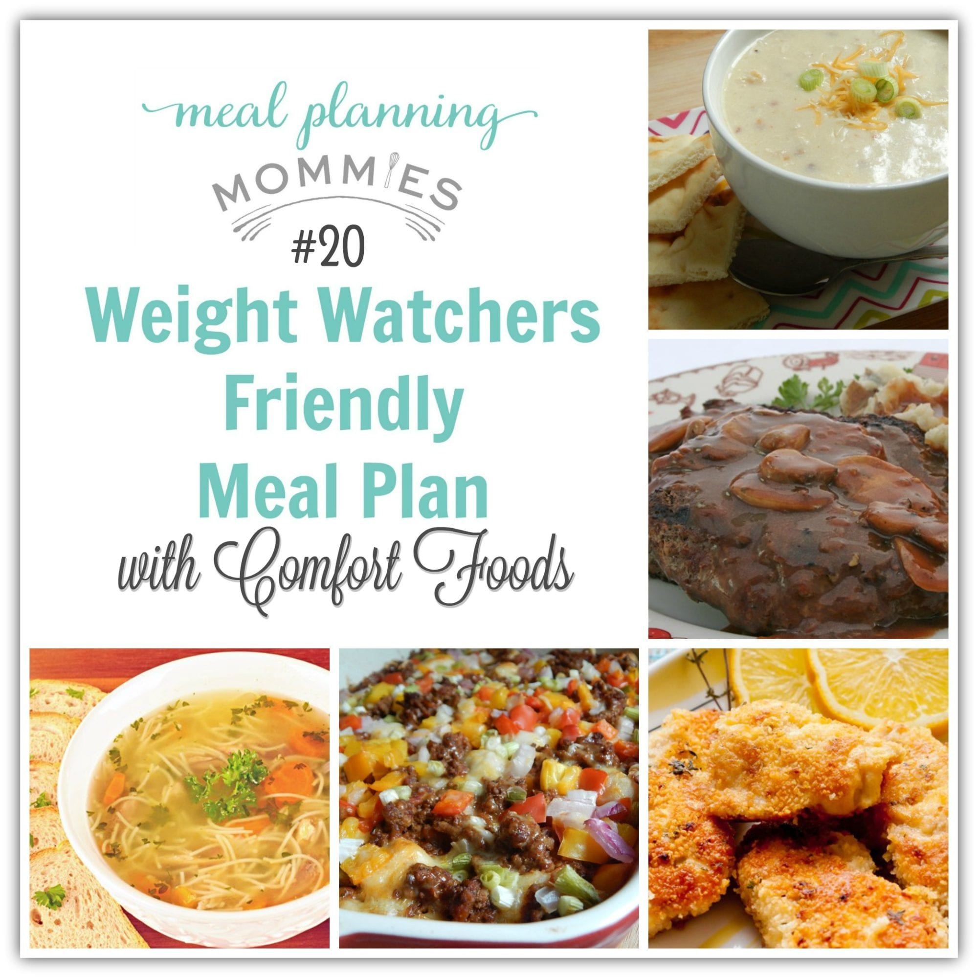 Weight Watcher Friendly Meal Plan 20 With Freestyle Smart