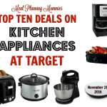 10 Great deals on Kitchen Appliances at Target. TODAY ONLY!
