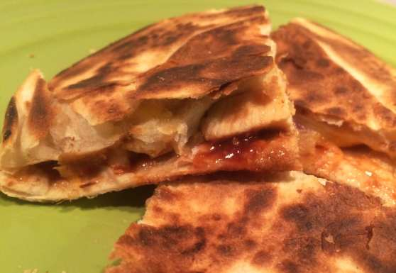 BBQ chicken quesadillas on Meal Planning Mommies