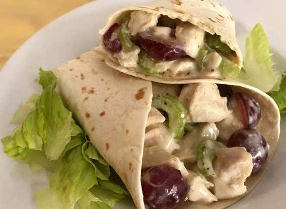 Fruited Chicken Salad Wraps - Weight Watchers friendly