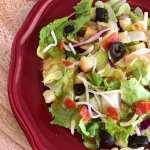 Italian Style Pepperoni Pizza Salad