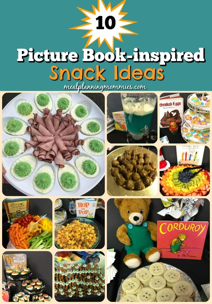 Picture book inspired snacks ideas