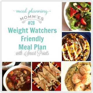Weight Watchers Friendly Meal Plan w/ Smart Points #28