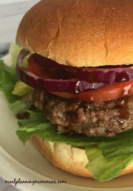 Great WW Super Bowl Party snack: Blue Cheese Stuffed Teriyaki Burgers